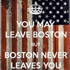 Aw so true, even though I am going to college far away out here in california, my heart is still in boston.