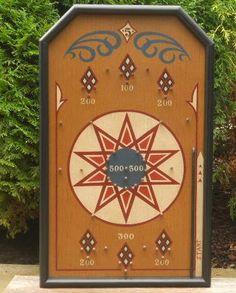 Primitive Wood Pinball Game Board Folk Art by JohnnyUNamath