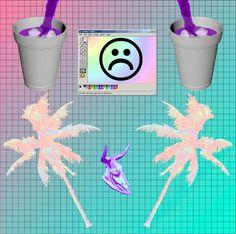 vaporwave / aesthetic / palm / lean / drank