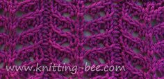 """Branch Lace #Knitting_Stitch Pattern. """"This is a very pretty lace stitch with repeats that are wider than other similar stitches. Beautiful for a shawl and forms a nice scallop at the bottom edge."""" comment via #KnittingGuru"""