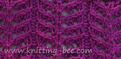 Branch Lace Knitting Stitch Pattern