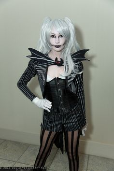 Hummm, could go with white hair. This is also another idea with a tail coat and a slimmer skirt. I like the stockings too!