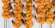 Thai-Curry Marinated Grilled Shrimp