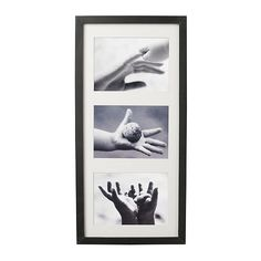 "RIBBA  Frame, black  $9.99 - Holds three 5x7"" pictures or one 20x9"" picture. The mat enhances the picture and makes framing easy.    for my personal boston stadium pics when we get our mancave!"