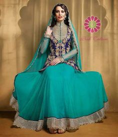 Sky Blue & Dark Blue Suit for just Rs.7045