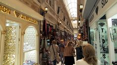 The Avrupa Pasaji (European Passage) is a historic arcade lined with many clothing and jewelry shops.