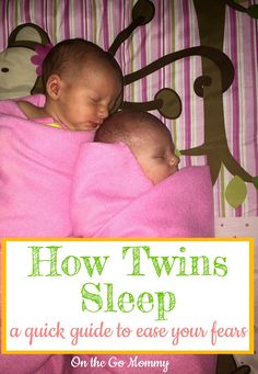 How twins sleep might be one of the most terrifying parts about twins. Do they sleep together? Do they sleep at the same time? What if one wakes up before the other? What if they wake up crying at the same time? So many thoughts and questions! Here is a quick guide that will make it simple for you to understand.