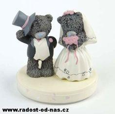 RADOST OD NÁS | Me to you Dekorace na dort svatba - svatební figurky