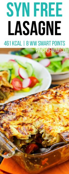 Syn Free Lasagne | Pinch Of Nom Slimming World Recipes 461 kcal | Syn Free | 8 Weight Watchers Smart Points