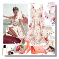 """""""Floral dress"""" by rosely25 ❤ liked on Polyvore featuring Chi Chi and Christian Louboutin"""