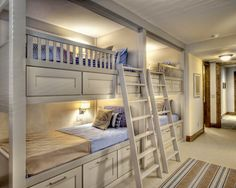 2,281 bunk bed ideas/designs... lots of options for four bunks in one room! This is especailly for all my friends that have large families!