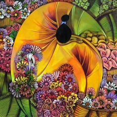 Hermes Maltez, Honduran artist! Honduras, Latino Artists, South American Art, Professional Painters, Painting People, Naive Art, Art Google, Color Splash, Vivid Colors