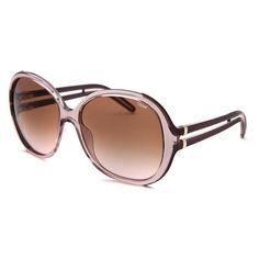53627e29fb87a Chloe Women s Oversized Translucent Light Pink Sunglasses featuring  polyvore