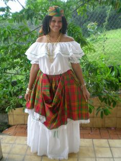 Woman from Dominica. (Dominica, Lesser Antilles, Caribbean)