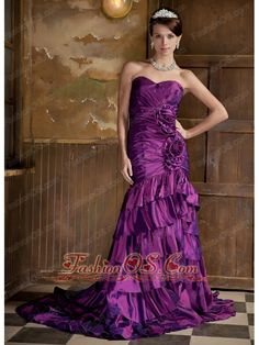 Buy elegant purple mermaid sweetheart chiffon beaded evening dresses for women from purple evening dresses collection, sweetheart neckline mermaid in color,cheap chiffon dress with zipper and sweep train for prom formal evening party . Discount Prom Dresses, Prom Dresses For Sale, Prom Dresses Online, Prom Party Dresses, Pageant Dresses, Quinceanera Dresses, Homecoming Dresses, Bridal Dresses, Dresses 2013