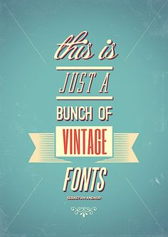 This is just a bunch of vintage fonts: Because typography is about more than words in pretty fonts; it's about using the lettering to exhibit the meaning behind the content Design Typo, Web Design, Typography Design, Vector Design, Creative Typography, Cv Inspiration, Graphic Design Inspiration, Vintage Fonts, Poster
