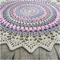 What do you know about crochet mandala pattern? It is a beautiful crochet pattern that can be adapted for creating a functional crochet item. Crochet Mandala is typical in which it has a circular shape and various colors of the… Continue Reading → Crochet Carpet, Crochet Home, Diy Crochet, Crochet Crafts, Crochet Projects, Crochet Rugs, Tutorial Crochet, Crochet Afghans, Crochet Blankets