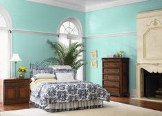 This is the project I created on Behr.com. I used these colours: ALOHA(MQ4-23),