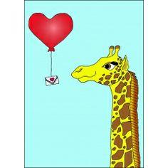 Love Letter - giraffe valentine by Rose Lucile cards