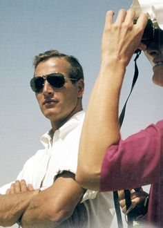 Paul Newman and Joanne Woodward in Israel during the filming of Exodus, 1959. Photo by Leo Fuchs..