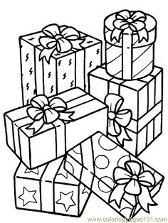 Christmas Gifts Or Presents Coloring Pages