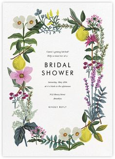 Personalized Bridal shower invitations. Available at Boardman Printing.