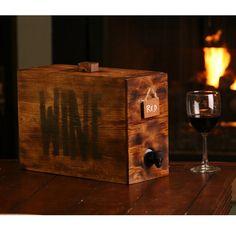 Wedding wine barrel box wine decanter wedding by KMGstore on Etsy, $45.00
