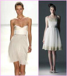 vestido de noiva curto casamento dia