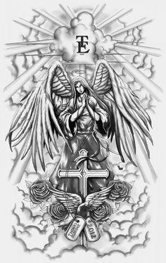 angel n demon full sleeve tattoo tattoo ideas - angel tattoo drawings Tattoos For Women Half Sleeve, Full Sleeve Tattoos, Tattoos For Guys, Fake Tattoos, Half Sleeve Tattoo Stencils, Half Sleeve Tattoos Designs, Henna Tattoos, Flower Tattoos, Tatoos