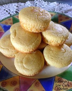 Kathryn's Low Carb Kitchen: ~ Low Carb Mock Cornbread Muffins