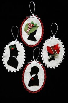 awesome silhouette ornaments