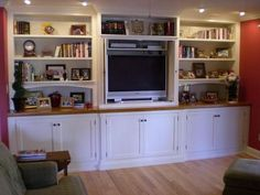 built in entertainment centers | Built-In Entertainment Center / Bookcases - Cabinets - 461 - Rockler ...