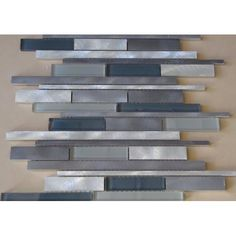 Found it at Wayfair - Urban Random Sized Aluminum and Glass Metal Look Tile in 3 Color Blend