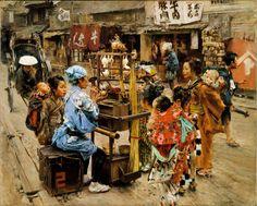 19世紀の米国人画家 ロバート・フレデリック・ブラム (Robert Frederick Blum) は、1876年「フィラデルフィア万博」で日本文化に衝撃を受け、いつかその地を踏むことを夢に抱いた 14年後の1890年、上野で開催された「第三回・国内勧業博覧会」に招待されたことを機に、その後3年間に渡って、彼の目を奪った江戸の香りが色濃く残る日本の景色を描き続けることになる