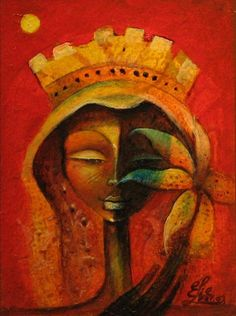 """Black Flower Queen"" by Elie Lescot.  Mr. Lescot is actually Haitian but his work is so cool I want to promote it."