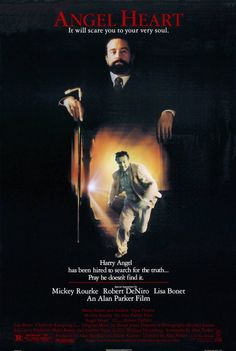Angel Heart. Starring Robert Di Niro as the devil, with LIsa Bonet and the incredible Mickey Rourke. Watched this for film class in college. Disturbing but memorable.