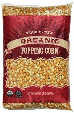 Home Movie Snack DIY Trader Joe's Organic Popping Corn 28 oz ( 1 lb 12 oz )794g #TraderJoes