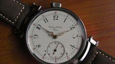 Sandoz - Gustave Sandoz Paris - XXL - beautiful unique- Heren - 1850-1900  Ik bied een polshorloge geconverteerd uit een zak met het mechanisme van de 120-jaar van de Franse fabrikant Gustave Sandoz. Dit is een echt juweeltje zoals deze horloges werden gemaakt door de bekende goudsmeden en juweliers horlogemakers in Parijs. In 1865 opgericht door Gustav Sandoz beheerd het tot 1931.Het mechanisme werd oorspronkelijk geplant in een gouden enveloppe. Zeer mooie mechanisme op wolf tanden met…