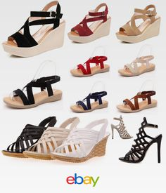 e05dcb8cac8 Women s Caged Peep Toe High Platform Wedge Sandal Shoes Size 5.5-8 Summer
