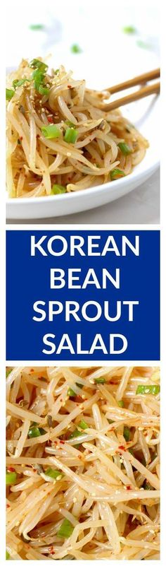 This simple 10 minute Korean bean sprout salad is fresh, crunchy, and addicting. Toss them into a stir fry, enjoy it as a side dish, mix into a salad, or eat it as is. No matter how you eat it, you'll love it! Guaranteed. |www.kimchichick.com #japaneseDishes