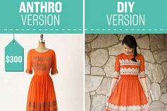 I love the lace trim and the cut - not the orange though