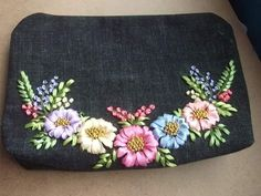 Embroidery Purse, Coin Purse, Ribbon, Wallet, Purses, Bag, Needlepoint, Tape, Handbags