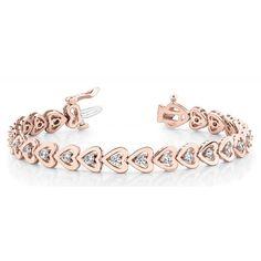 Diamantarmband 1.00 Karat Brillanten 585/14K Rosegold