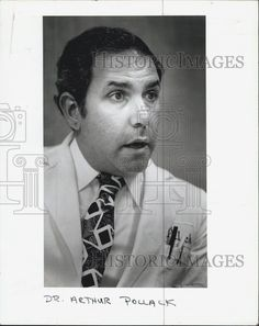 1984 Press Photo Doctor Arthur Pollack Speaking Candid