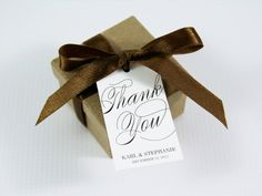 Thank You Wedding Favor Tags  Medium Size by TaggedWithLoveShop, $16.25