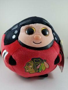 072040407bb Chicago Blackhawks NHL Beanie Ballz Large 8 inch Plush Ty NWT  Ballz   ChicagoBlackhawks