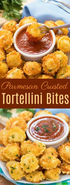 Cheese-filled tortellini that's surrounded by a crispy Parmesan crust, fried to golden perfection and dipped in warm marinara sauce.