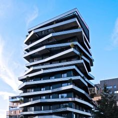 Christophe Rousselle's Inoxia apartments feature jagged wraparound balconies