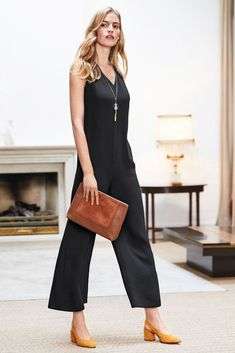 8855607a150 BNWT Next Black Cropped Jumpsuit Size 10 Reg Tagged   65  fashion  clothing