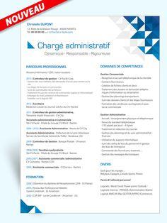 Exemple modèle CV Chargé Administratif